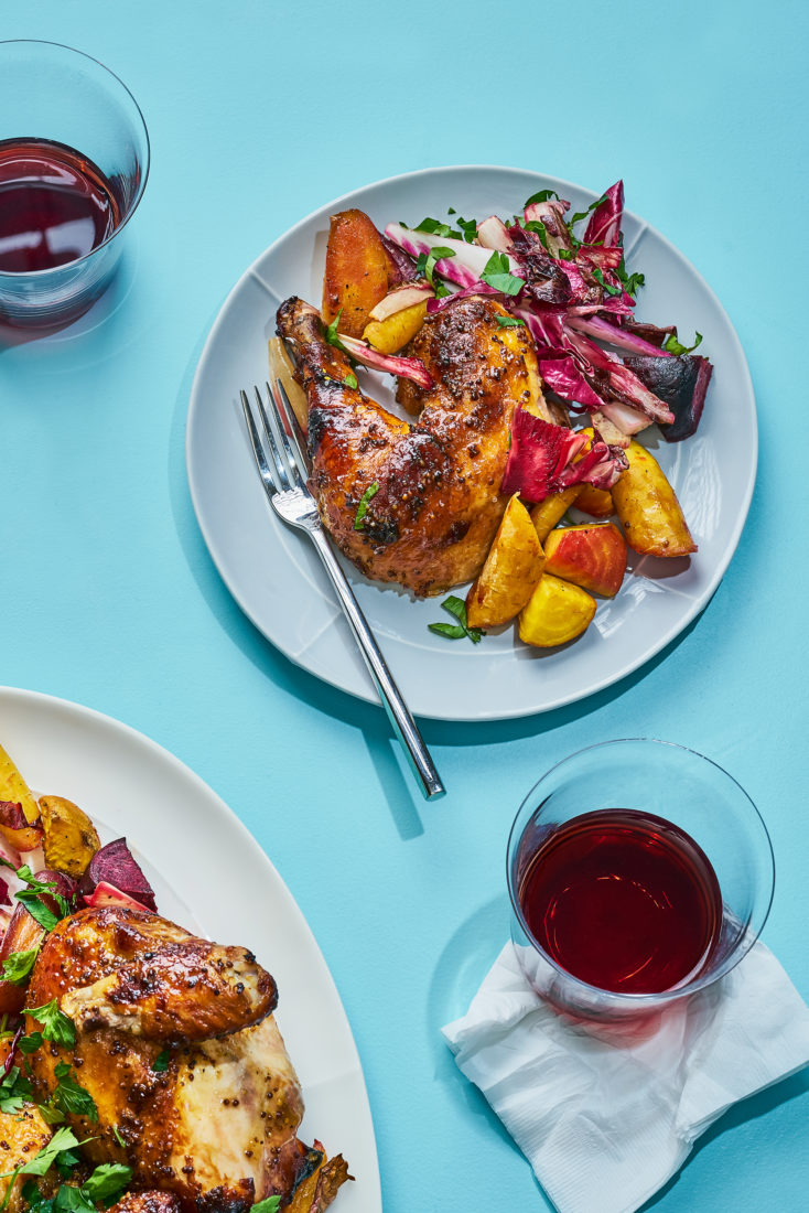 Hot Mustard Glazed Chicken and a Red Wine Pairing